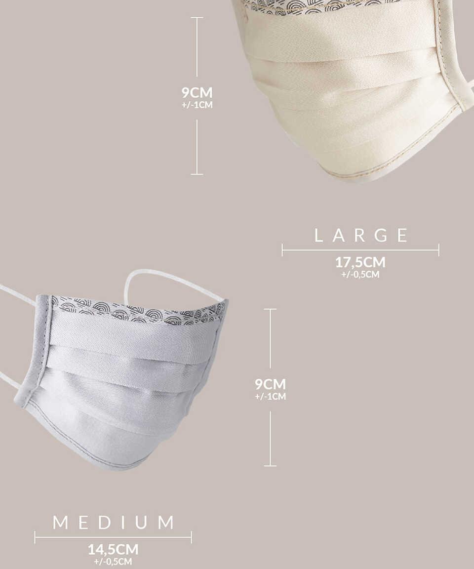 5 li Maisonette Yıkanabilir Pamuklu Yüz Maskesi Baskılı Lacivert
