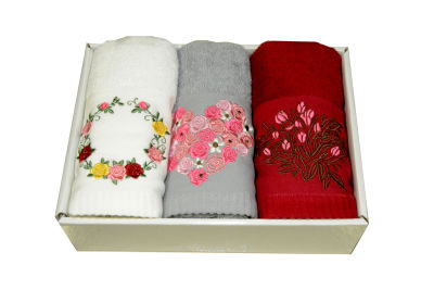 Maisonette Anneler Günü 45x70 cm 3 lü Havlu Set