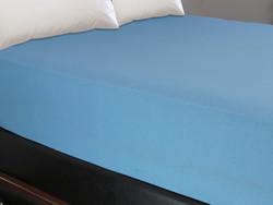 Maisonette Lastikli Çarşaf Mavi 160x200 cm - Thumbnail