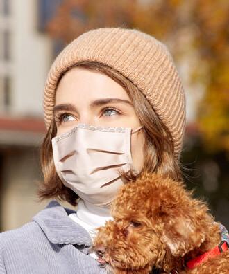 - 5 li Maisonette Yıkanabilir Pamuklu Yüz Maskesi Bej