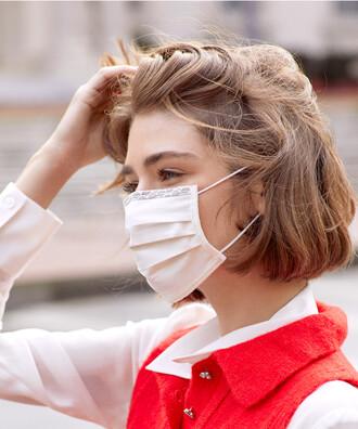- 5 li Maisonette Yıkanabilir Pamuklu Yüz Maskesi Beyaz