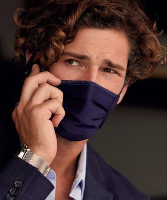 - 5 li Maisonette Yıkanabilir Pamuklu Yüz Maskesi Lacivert