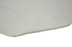 Tek Kişilik Bornoz Takımı Beyaz Şalyaka - Thumbnail